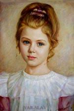 Портрет живопись портрет ребенка