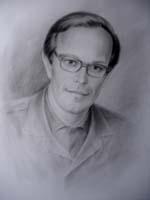 Портрет сухая кисть портрет мужчины