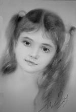 Портрет девочки нарисованный