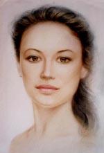 Галерея женских портретов маслом на
